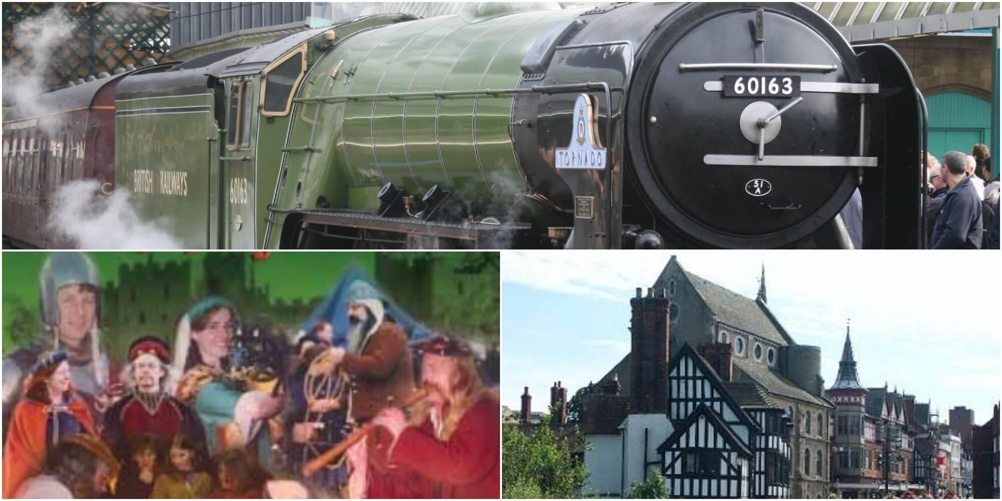 No 60163 Tornado, Ludlow Medieval Christmas Fayre & Shrewsbury