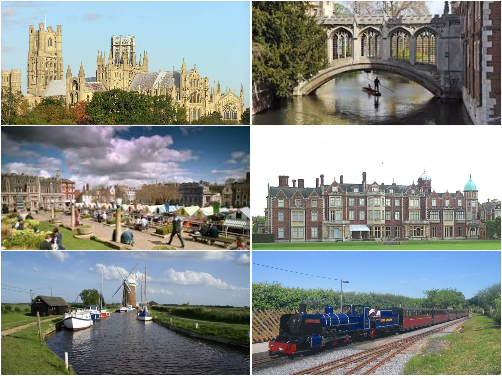 Ely, Cambridge, Norwich, Sandringham, Norfolk Broads & Bure Valley Railway
