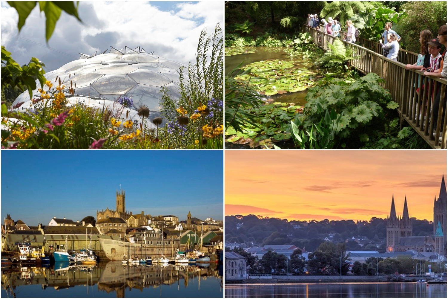 Eden Project, Lost Gardens of Heligan, Penzance & St Erth