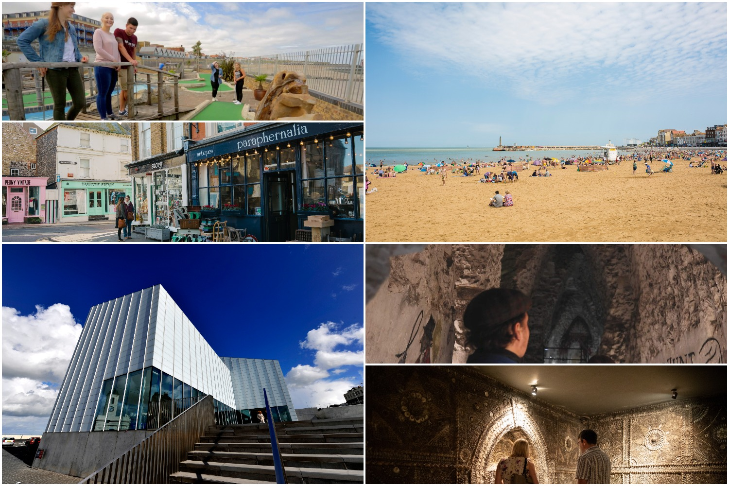 Attractions at Margate images courtesy of Thanet District Council